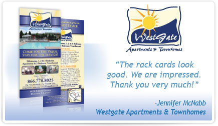 Westgate Apartments & Townhomes Rackcard Testimonial