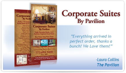 Corporate Suites by Pavilion Rackcard Testimonial