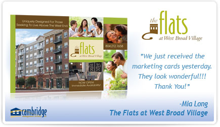 The Flats at West Broad Village Postcard Testimonial